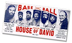 1930s Israelite House of David baseball poster