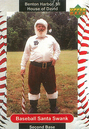 SANTA 'BILL' CLAUS: Bill Swank, historian for the San Diego Padres