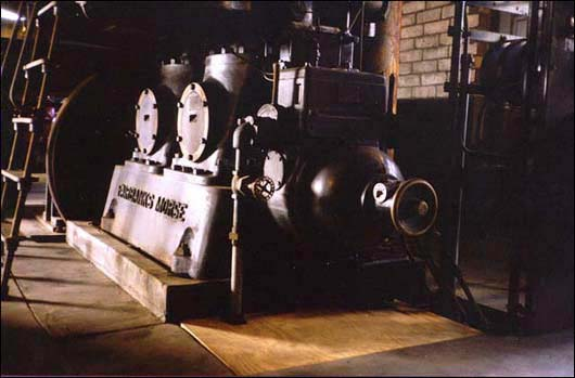Mary's City Of David Power House: Fairbanks Morse, 2 Cylinder, Diesel Power generator for the Community's Electricity.