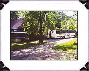 Two motor coaches from Wheeling, IL, toured Mary's City of David on September 7, 2000.