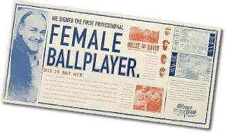 Female Ballplayer Poster